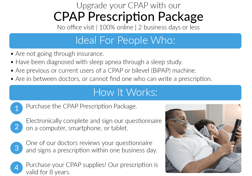 Free CPAP Prescription Refill with New Auto CPAP - Easy ...