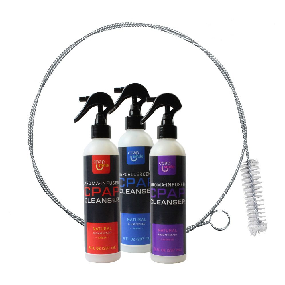 CPAP Cleaning Bundle, tube brush and cleanser spray