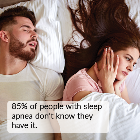 Home Sleep Test: 85% of people with sleep apnea don't know they have it